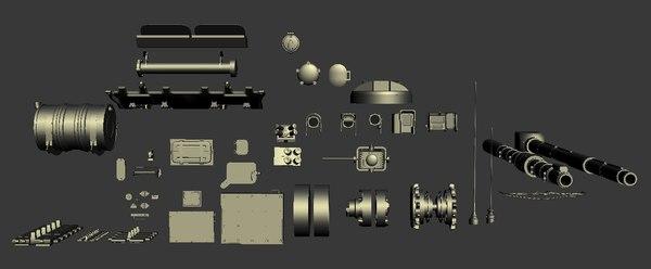 kit bash tank parts 3d max