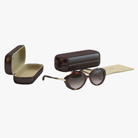 louis vuitton bluebell sunglasses 3d model