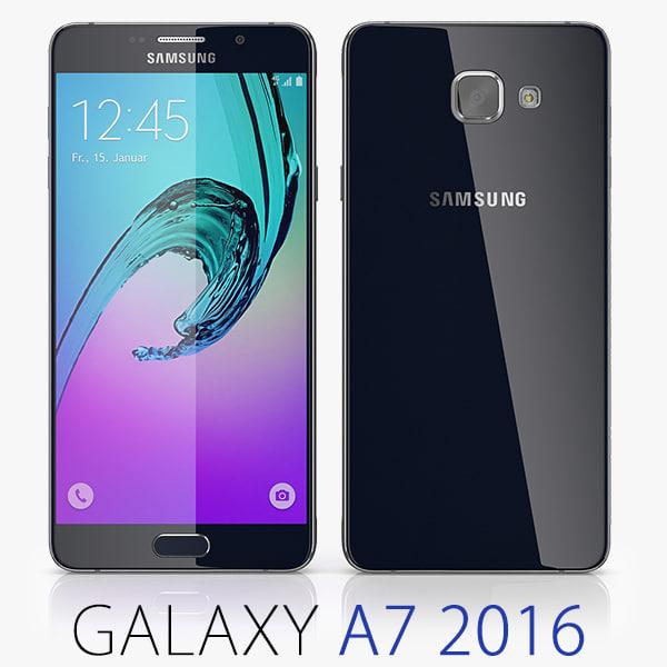 3d samsung galaxy a7 2016 model