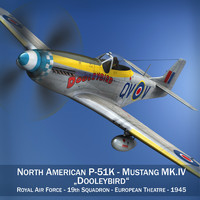 north american mustang mk iv 3d obj