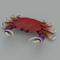 Low poly Cartoon crab