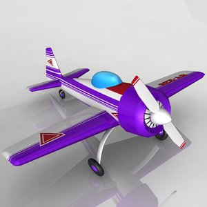 small toy plane 3d max