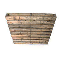 reversible pallet damaged - 3d model