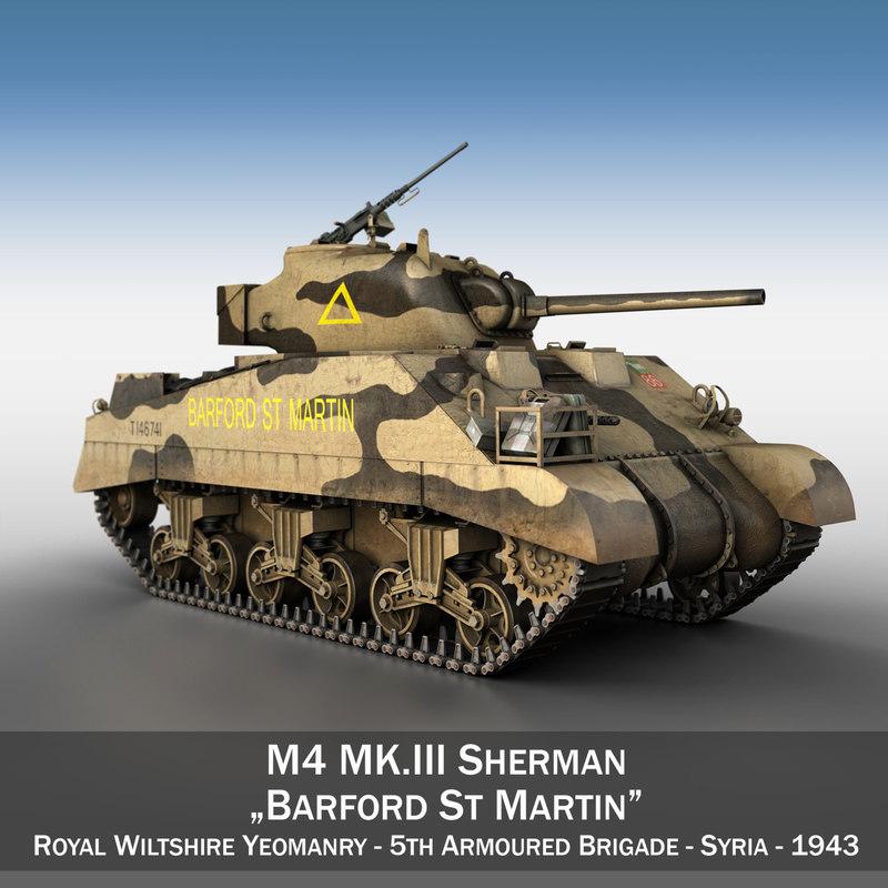 m4 sherman iii barford 3d 3ds