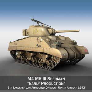 3d m4 sherman iii - model
