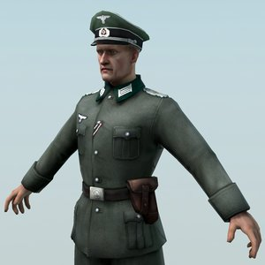 ready wehrmacht officier obj