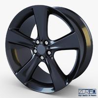 3dsmax style 128 wheel black