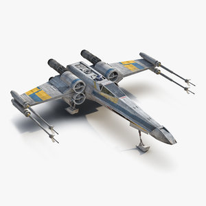 star wars x wing 3d obj