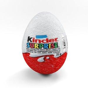 kinder surprise 3d model