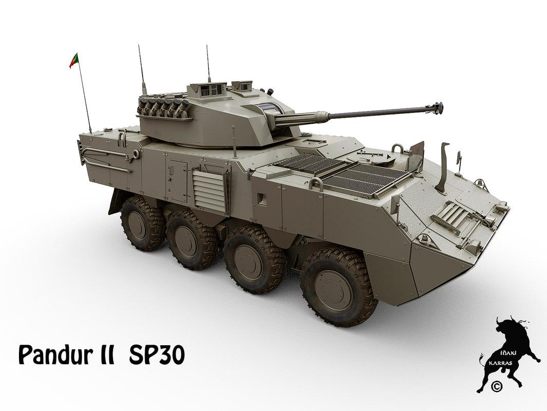 pandur ii sp30 3d model