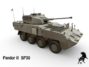 pandur ii sp30 3d model