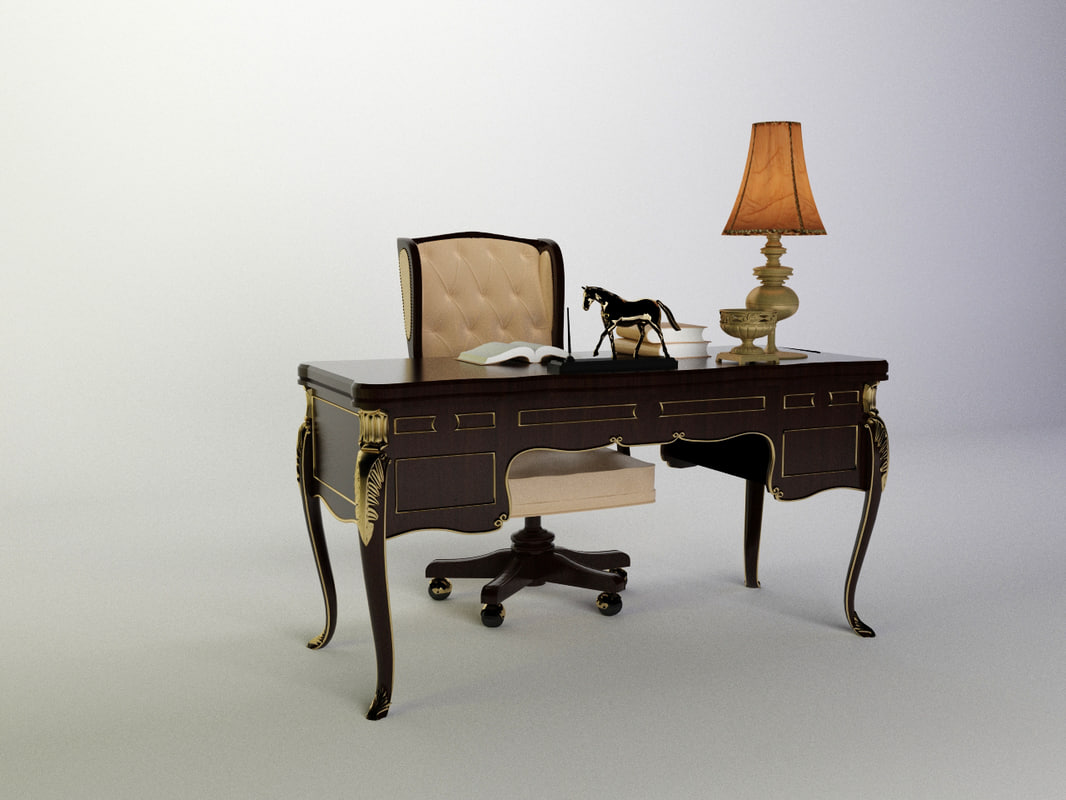 3d classic table model