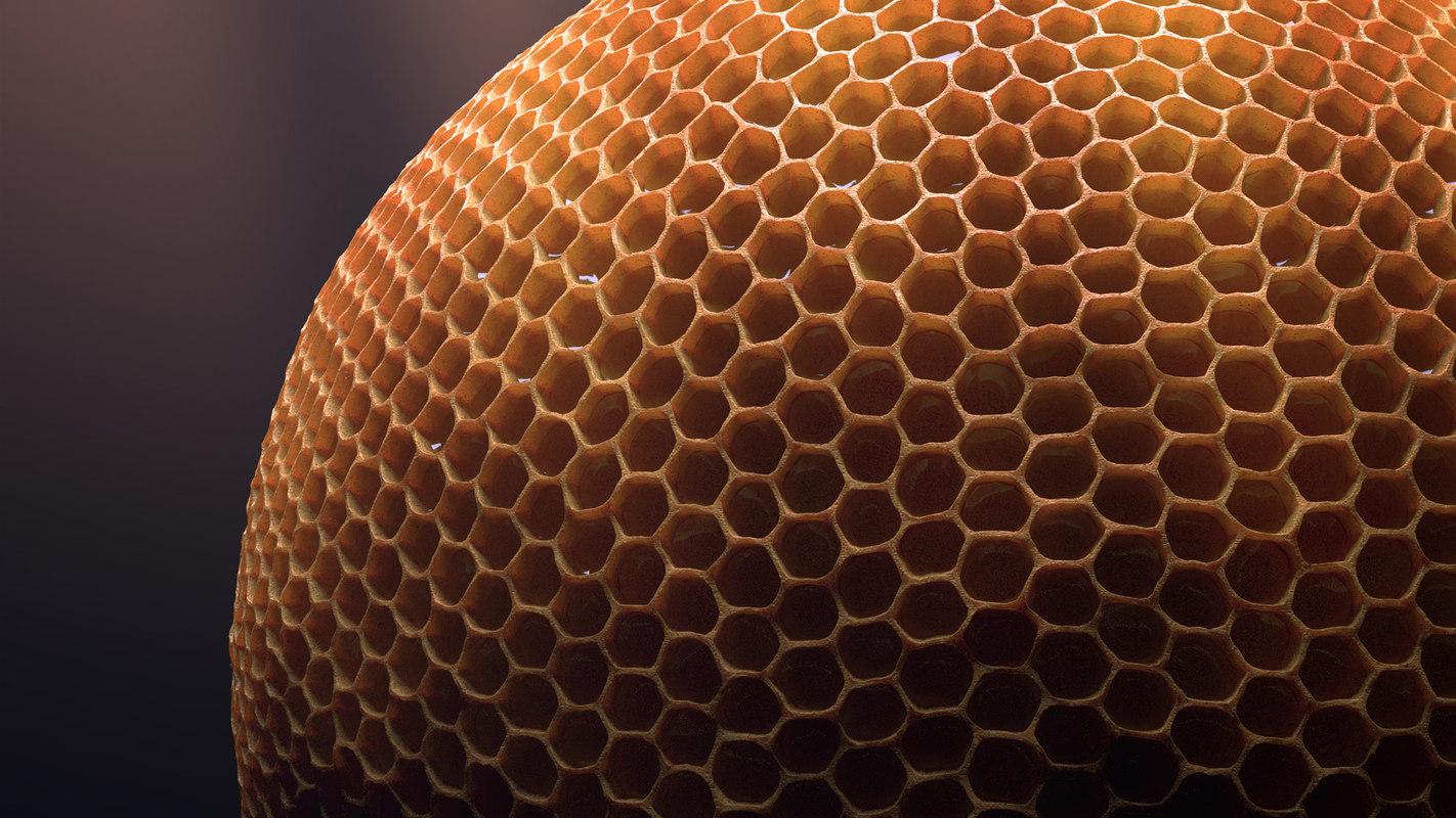 honey honeycombs 3d max