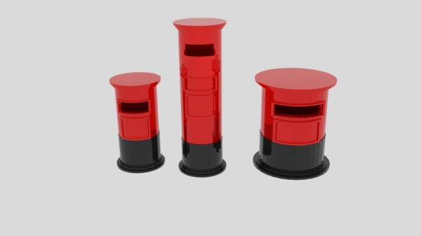 cylinder pack post box 3d obj
