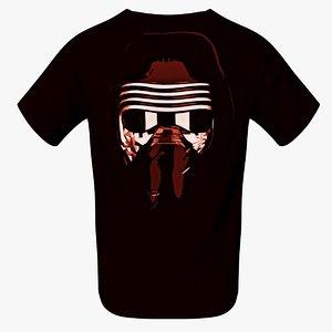3d model tshirt shirt kylo