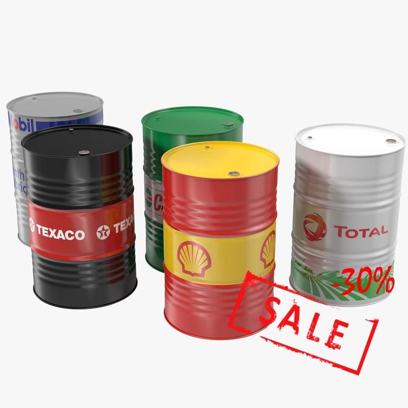3d steel oil barrel
