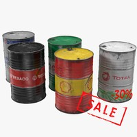 steel oil barrel old 3d max