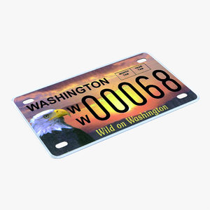 3ds washington license plate