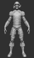 3d zbrush character ztl model