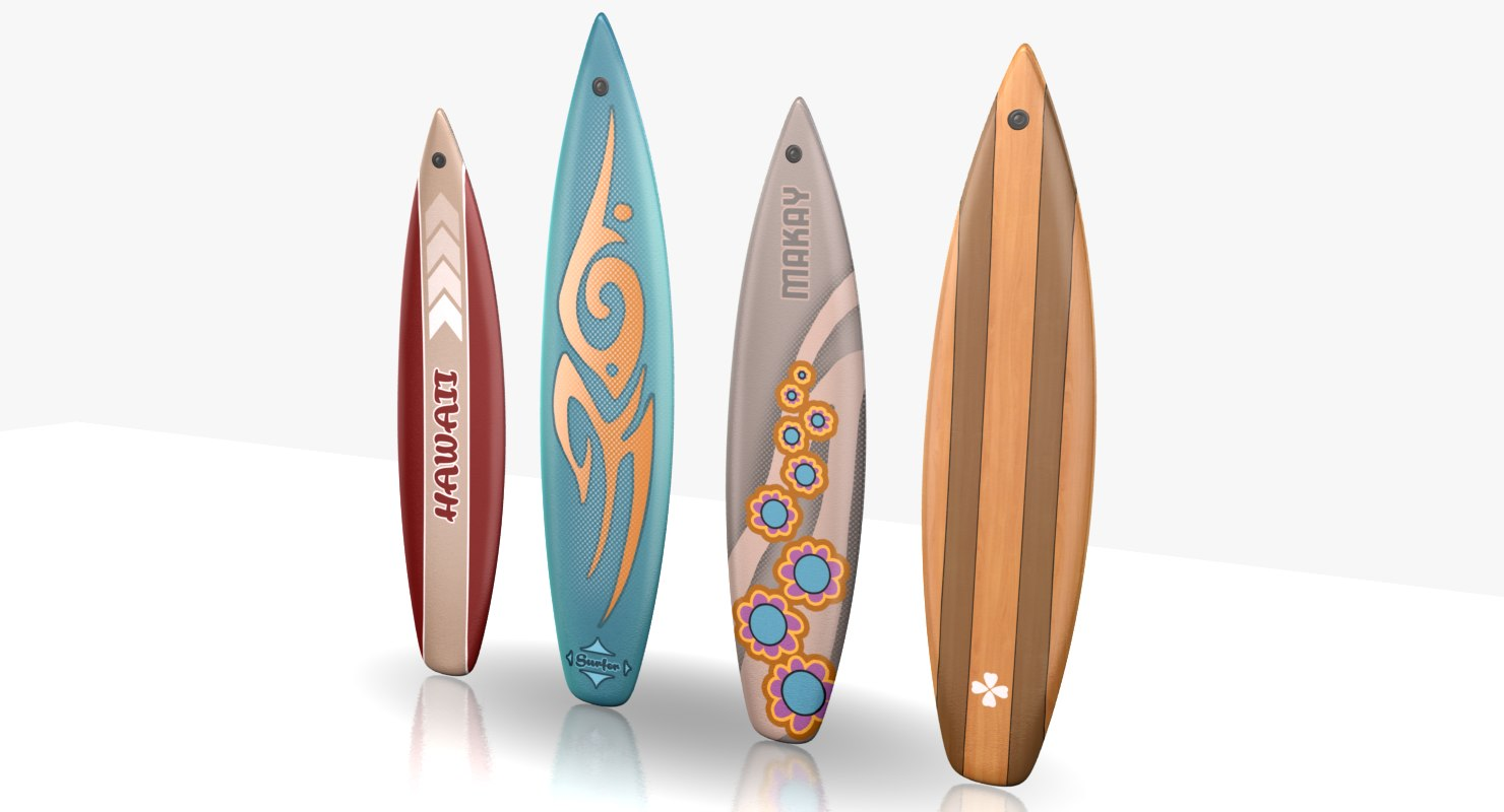 3d surfboards games model
