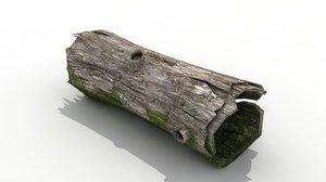 hollow spooky tree 3d model