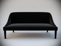 black velvet sofa interior 3d max