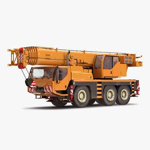 compact mobile crane 2 3d model