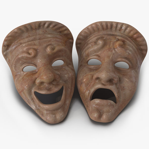 max theatre masks set red