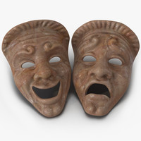 max theatre masks set red