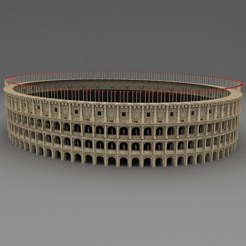 roman colosseum 3d obj