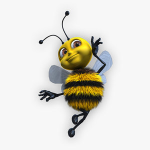 3ds cartoon baby bee