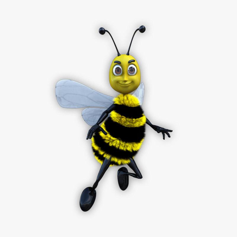 maya cartoon father bee
