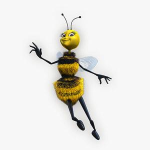 3d cartoon queen bee model