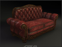 sofa modelled games 3d fbx