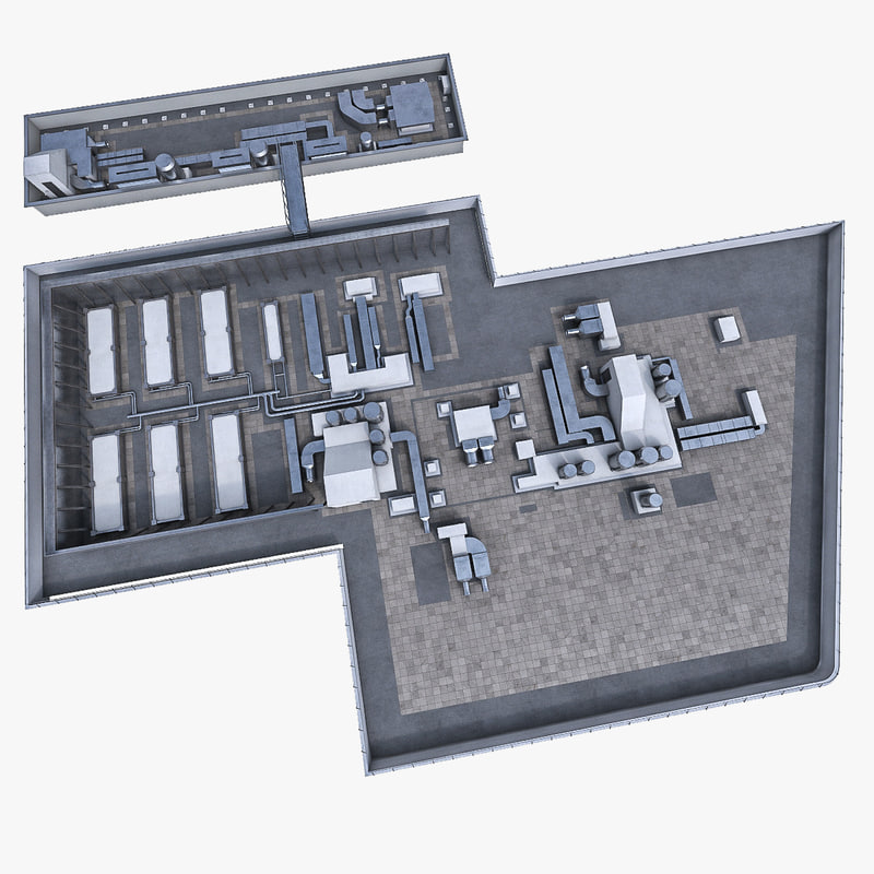 3d building roof ventilation equipment