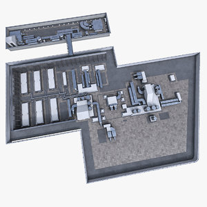3d building roof ventilation equipment