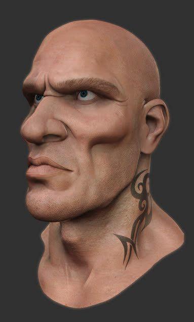 stylized head 3d model