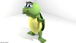 obj cartoon toon turtle
