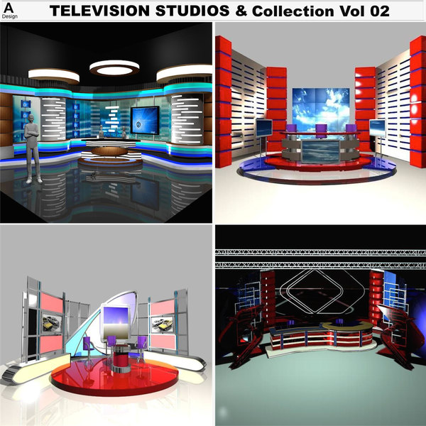 3d model television studios vol 02