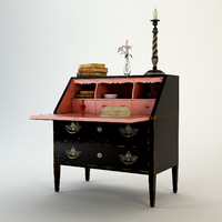 3ds max salda secretaire louis xvi