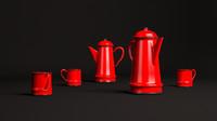 3dsmax red teapot
