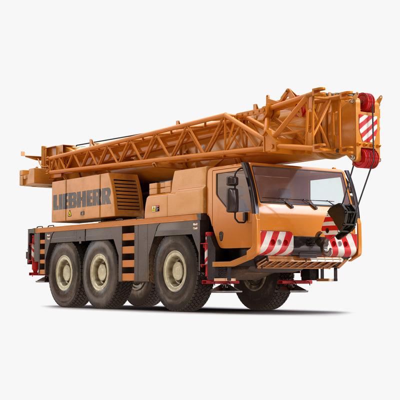 3ds max compact mobile crane liebherr