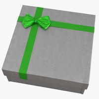giftbox 4 silver 3d max