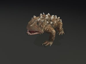 3d mutant frog toad
