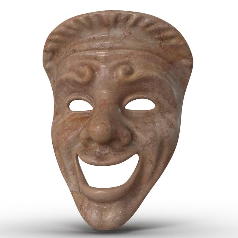 theatre comedy mask red max
