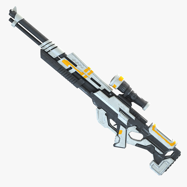 3d model weapon rifle