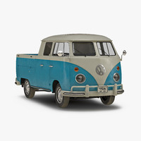3d model of volkswagen type 2 double