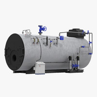industrial gas steam generator 3d model