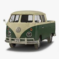 3d volkswagen type 2 double