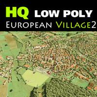 medieval village little european 3d 3ds